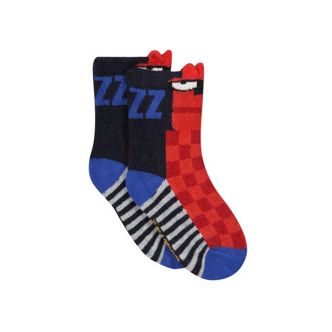 CATIMINI Baby boy's check jacquard socks