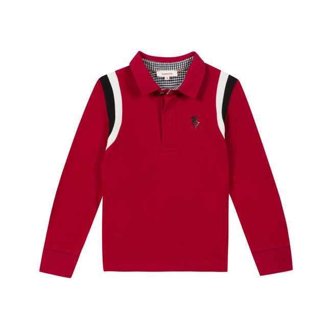 CATIMINI Boy's pique knit polo shirt with embroidered back