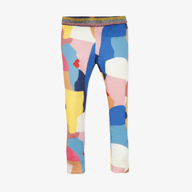 Girls' printed jersey leggings