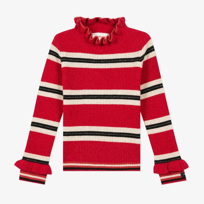 CATIMINI Girls' striped sock knit jumper