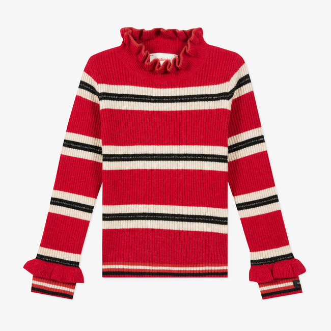 Girls' striped sock knit jumper