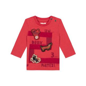 Baby boys' jersey T-shirt with 3D motifs