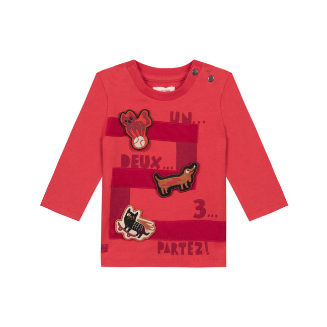 Baby boys' jersey T-shirt with 3D motifs
