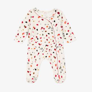 Baby girls' terry velvet pyjamas