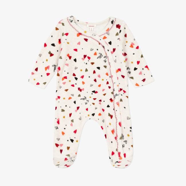 Baby girls' terry velvet pyjamas