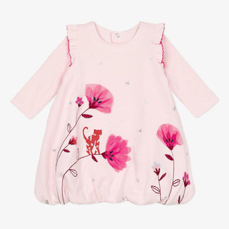 CATIMINI Baby girls' jersey puffball dress pink