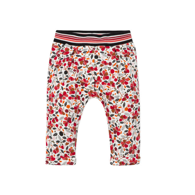 Baby girls' printed tubular knit neo-joggers
