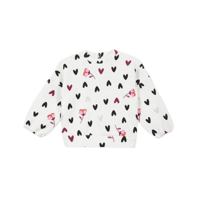 CATIMINI Baby girls' embossed interlock sweatshirt
