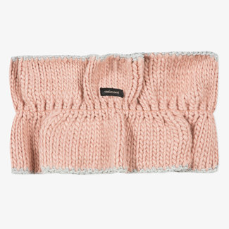 Girls' knitted pink snood with ruffles