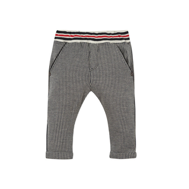 Baby boys' houndstooth interlock knit neo-joggers