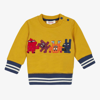 Baby boys' patch fleece sweatshirt
