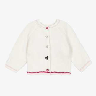 Baby girl's heads and tails knitted cardigan 3D ears