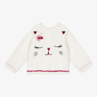CATIMINI Baby girl's heads and tails knitted cardigan 3D ears