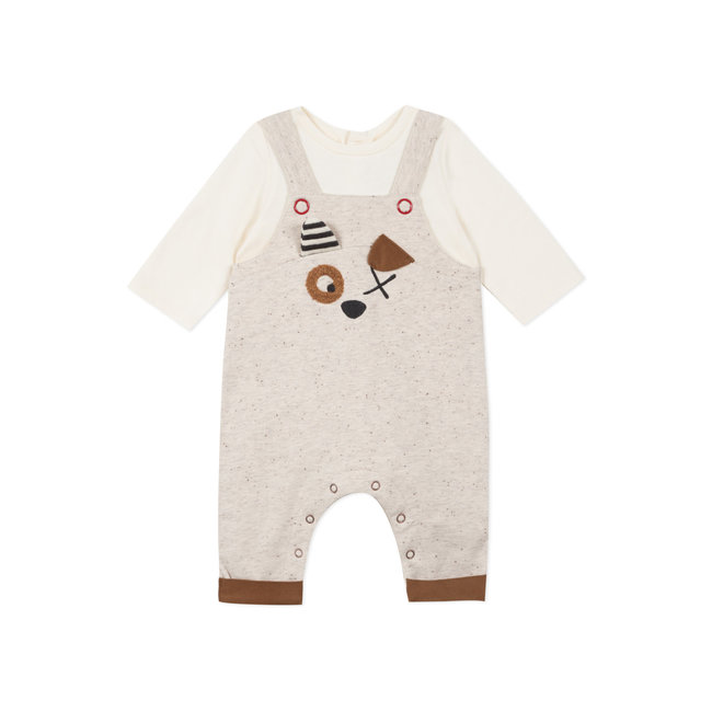 Baby boys' 2-in-1 faux fleece and jersey jumpsuit