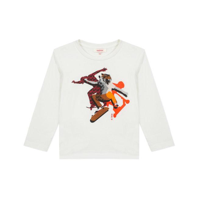 Boy's jersey T-shirt with skateboard motif