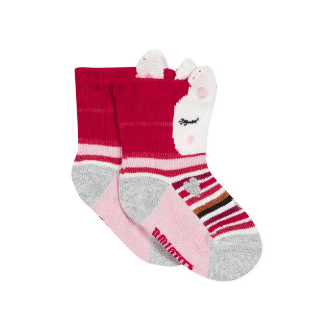 Baby girls' jacquard socks bunny