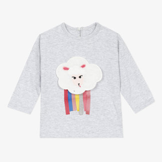 Baby girls' marl jersey T-shirt