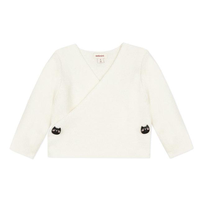 Snow white knit newborn bodysuit