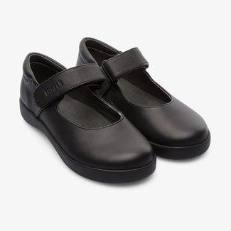 CAMPER Girl Spiral Comet Ballerina Shoe (Black)