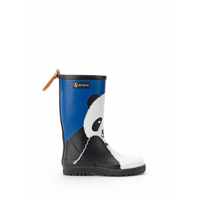 AIGLE WOODYPOP FUN PANDA RUBBER BOOTS