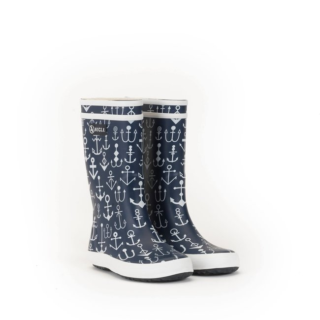 AIGLE LOLLY POP KID RUBBER BOOTS DARKNAVYANCRES/ANCHORS