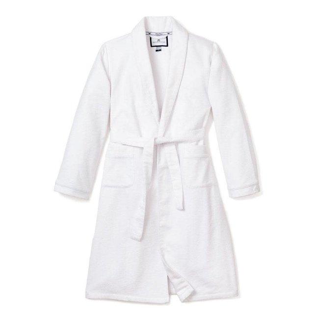 Petite Plume White Flannel Robe