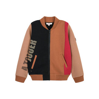 Boys' colorblock fleece cardigan