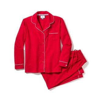 Petite Plume Women's Red Flannel Classic Pajama Set