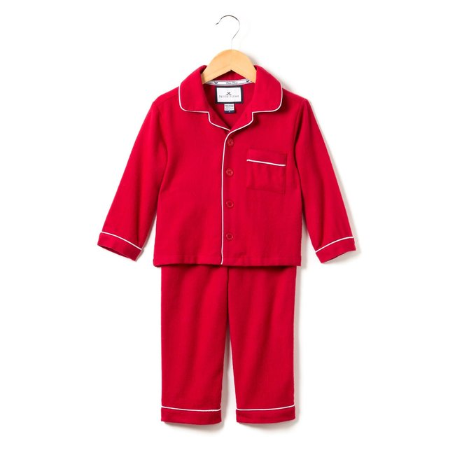 Petite Plume Classic Red Flannel Pajamas