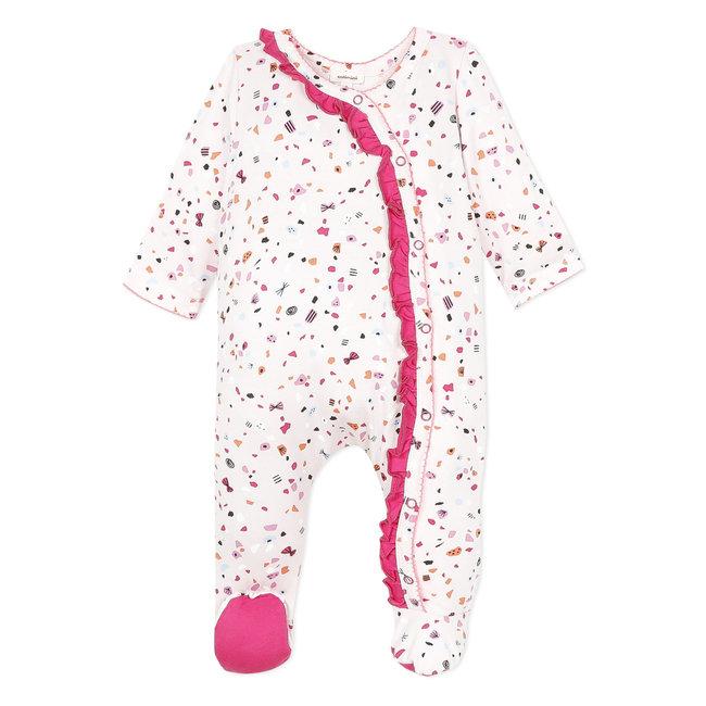 CATIMINI Baby girl's stretch jersey pyjamas with sweeties print
