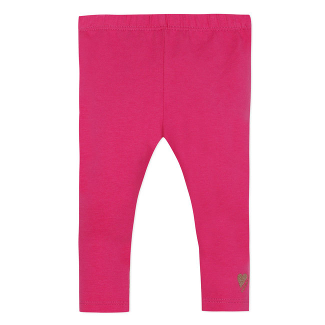 CATIMINI Baby girl's plain shocking pink stretch jersey leggings
