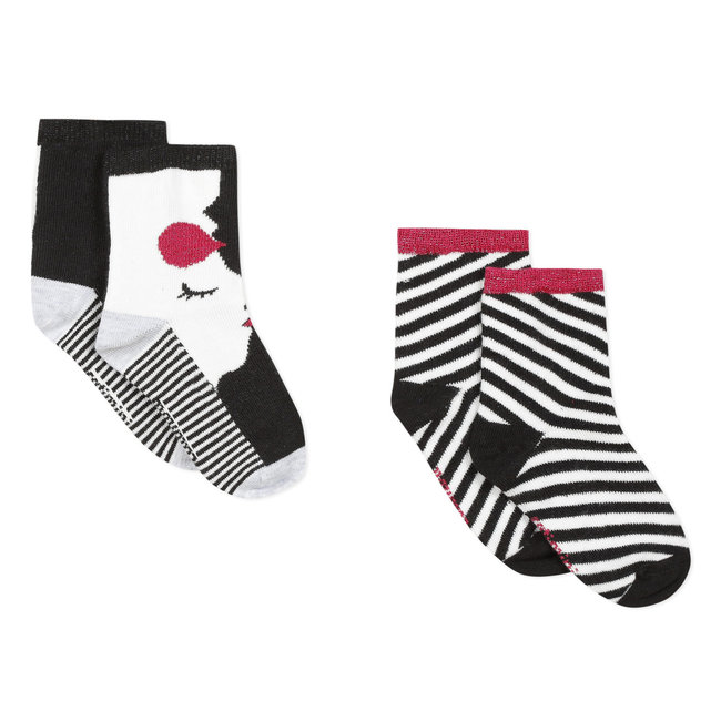 CATIMINI Pack of 2 pairs of girl's graphic socks
