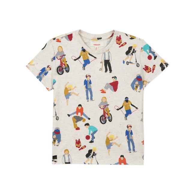 CATIMINI Boy's printed marl jersey T-shirt