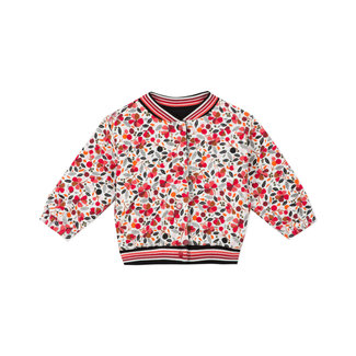 CATIMINI Baby girls reversible printed knit jersey cardigan