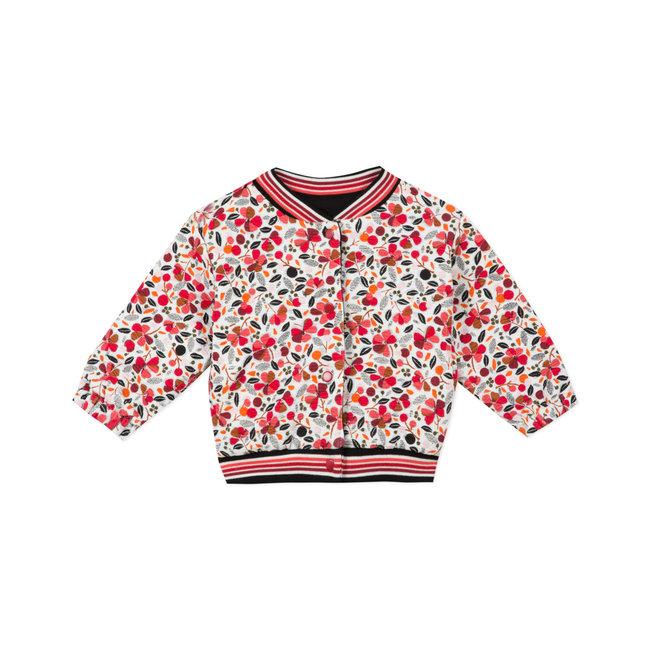 CATIMINI Baby girls reversible printed knit jersey cardigan