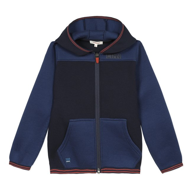 CATIMINI Boys' pique and foamback cardigan