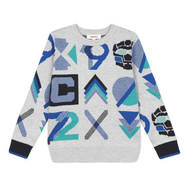 CATIMINI Boy's knitted jacquard jumper