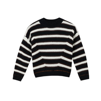 CATIMINI Girls' copper striped knitted sweater