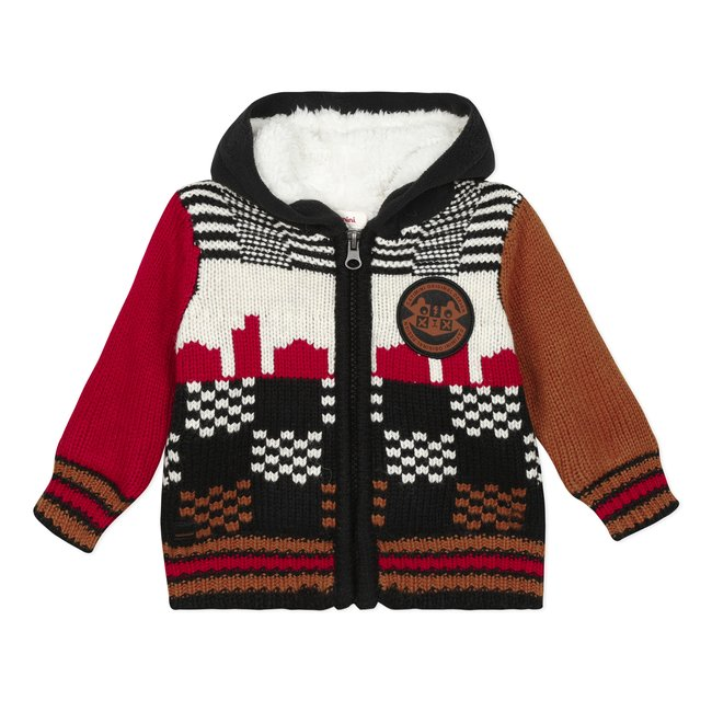 CATIMINI Baby boys' lined knit cardigan with hood