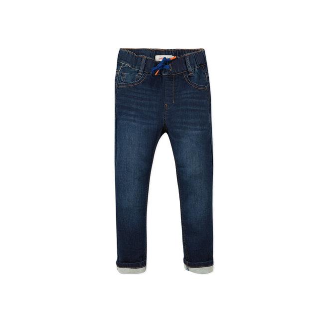 CATIMINI Boy's knit raw denim jeans