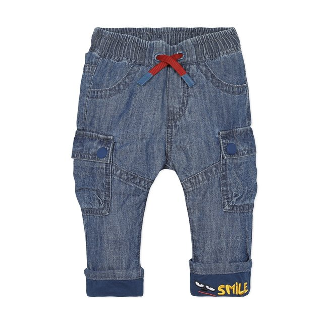 CATIMINI Baby boys' multi-pocket jersey-lined jeans