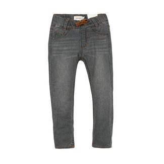 CATIMINI Boys' knit denim grey jeans