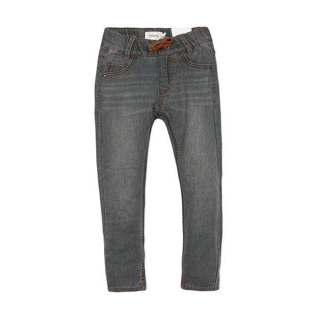 CATIMINI Boys' knit denim grey jeans