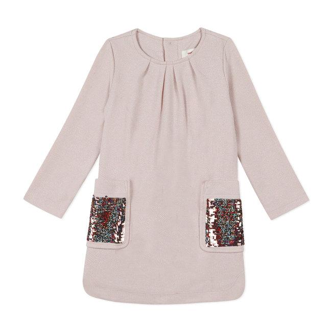 CATIMINI Girls' shiny pique knit jumper dress