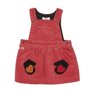 CATIMINI Baby girls' velvet dungaree dress