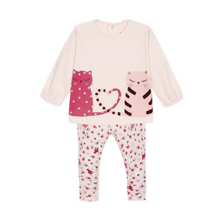 CATIMINI Baby girls' printed jersey T-shirt and trousers