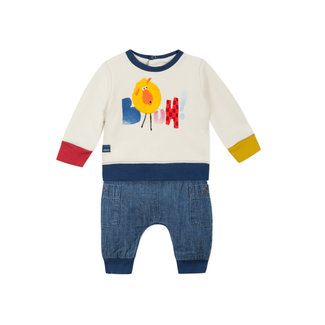 CATIMINI Baby boys' fleece sweatshirt and denim trousers