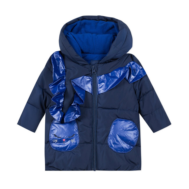 CATIMINI Baby girls' two-tone coated puffa jacket