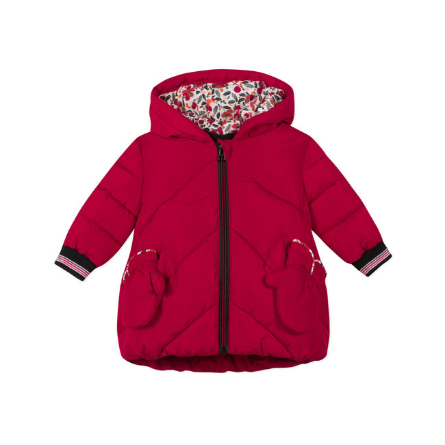 CATIMINI Baby girls' coated puffa jacket and mittens