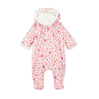 CATIMINI Baby girl coated and padded combi jumpsuit and jacket